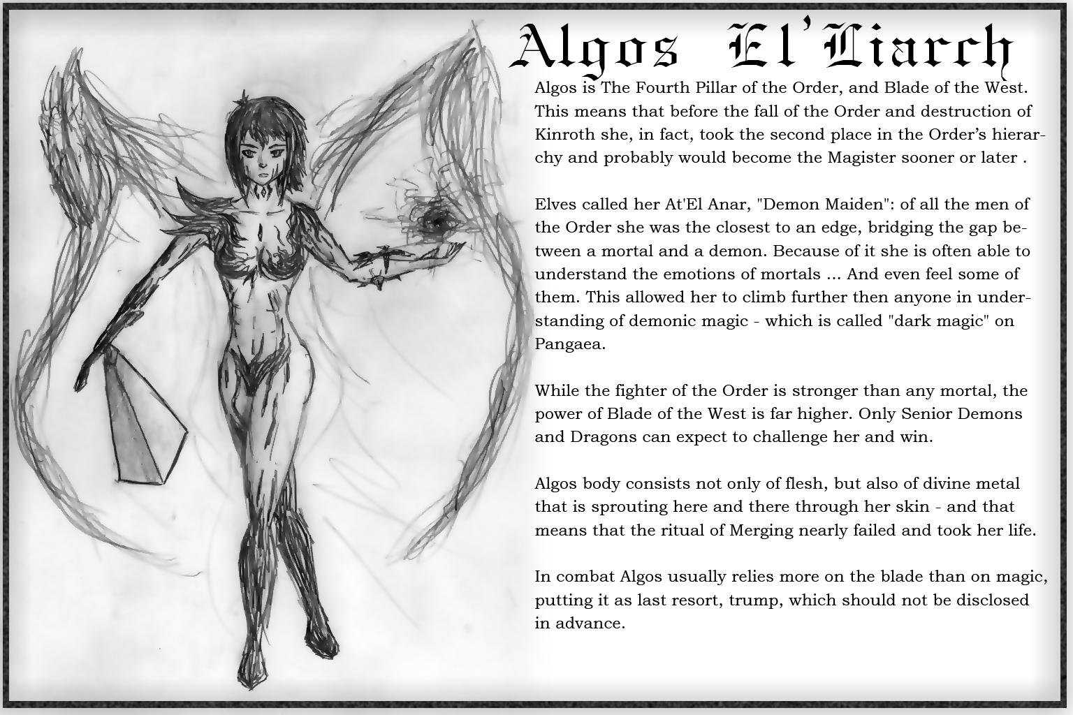 Algos character sheet